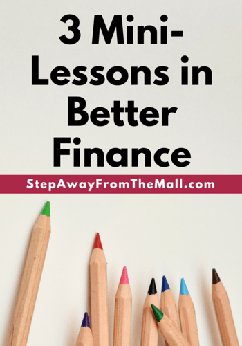 3 mini-lessons in better finance